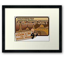 Sat Wars Mos Eisley Spaceport  Framed Print