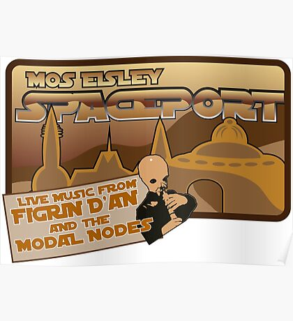 Sat Wars Mos Eisley Spaceport  Poster