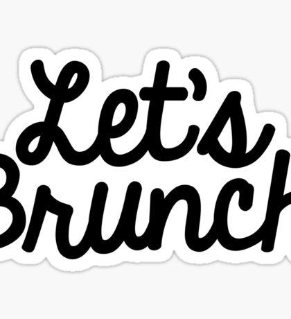 let's brunch  Sticker