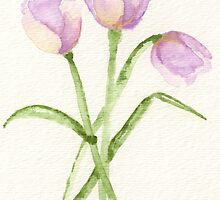 3 Lavender Tulips by Laurie3348