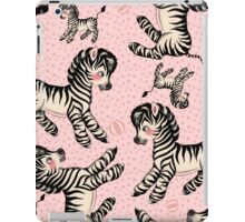 Cute Baby Zebra pattern vintage illustration for children iPad Case/Skin