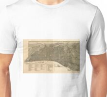 Vintage Pictorial Map of Philadelphia PA (1888) Unisex T-Shirt