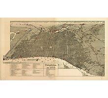 Vintage Pictorial Map of Philadelphia PA (1888) Photographic Print