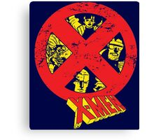 X-Men 92' Cartoon Logo & Team Canvas Print