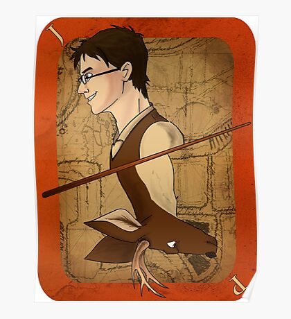 James Potter Playing Card Poster