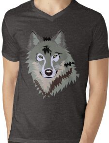Grey Wolf Mens V-Neck T-Shirt