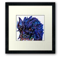 Smaug Design Framed Print