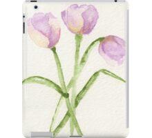 3 Lavender Tulips iPad Case/Skin