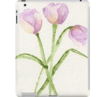 3 Lavender Tulips iPad Case/Skin