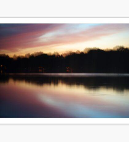 Pink Sunset Symmetrical Reflection Sticker