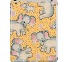 Cute Baby Elephant pattern vintage illustration for children iPad Case/Skin