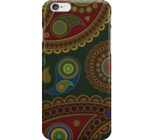 Oriental Iranian Paisley, Dots - Blue Green Red  iPhone Case/Skin