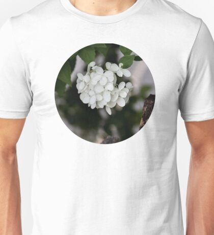Hydrangea and Old Country Fence  Unisex T-Shirt