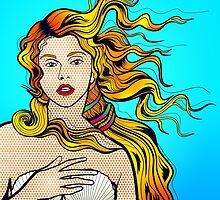Seashell Girl - Digital Illustration by ARTSHOP