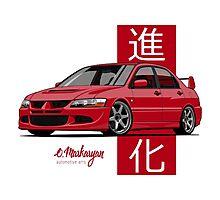 Mitsubishi Lancer Evolution VIII (red) Photographic Print