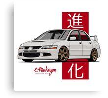 Mitsubishi Lancer Evolution VIII (white) Canvas Print
