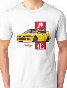 Mitsubishi Lancer Evolution VIII (Yellow) Unisex T-Shirt