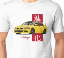 Mitsubishi Lancer Evolution VIII (Yellow) Unisex T-Shirt