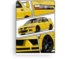 Mitsubishi Lancer Evolution VIII (Yellow) Canvas Print