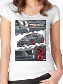 Mitsubishi Lancer Evolution VIII (gray) Women's Fitted Scoop T-Shirt