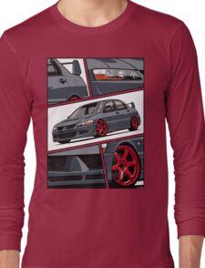 Mitsubishi Lancer Evolution VIII (gray) Long Sleeve T-Shirt