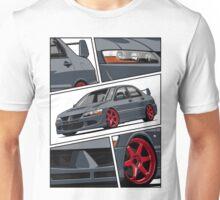 Mitsubishi Lancer Evolution VIII (gray) Unisex T-Shirt