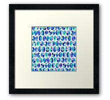 Oceanic Coffee Beans Pattern Framed Print