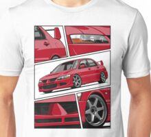Mitsubishi Lancer Evolution VIII (red) Unisex T-Shirt