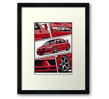 Mitsubishi Lancer Evolution VIII (red) Framed Print