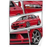 Mitsubishi Lancer Evolution VIII (red) Poster