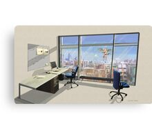 Office romance Canvas Print