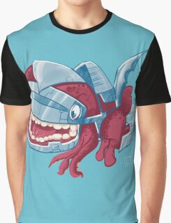 Sky Robot Monster Graphic T-Shirt