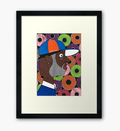 31 Donuts ( Tribute to J Dilla ) Framed Print