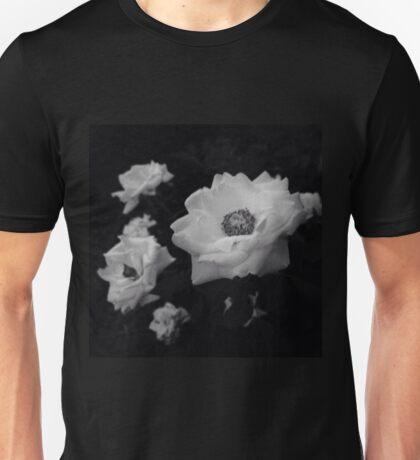 Black and White Flowers Unisex T-Shirt
