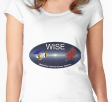 Wide-field Infrared Survey Explorer (WISE) Logo Women's Fitted Scoop T-Shirt