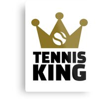 Tennis king crown Metal Print