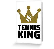 Tennis king crown Greeting Card