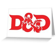 DAD !! DUNGEONS AND DRAGONS Greeting Card