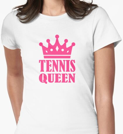 Tennis queen crown Womens Fitted T-Shirt