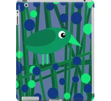 Green cute bird iPad Case/Skin