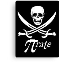 Pi-rate nerdy pirate - www.shirtdorks.com Canvas Print