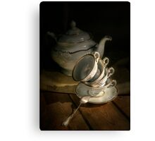 Still life with china set Canvas Print
