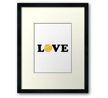 Tennis love Framed Print