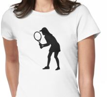 Tennis woman girl Womens Fitted T-Shirt