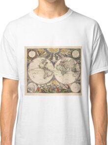 Vintage Map of The World (1672) Classic T-Shirt