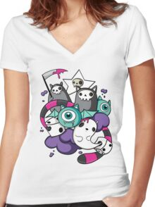 death dice Women's Fitted V-Neck T-Shirt