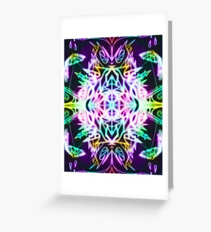 Neon Mandala 2 Greeting Card
