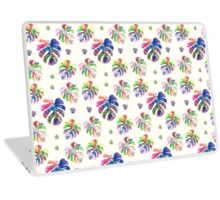 Tropical watercolor leaf pattern Laptop Skin