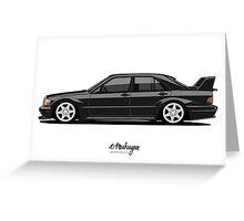 Mercedes 190E Evo II Greeting Card