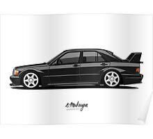 Mercedes 190E Evo II Poster